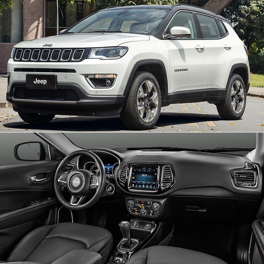 jeep compass limited 2 0 flex 2017 carro esporte clube. Black Bedroom Furniture Sets. Home Design Ideas