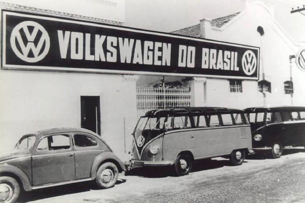 Fábrica da Volkswagen no Brasil em 1953, no bairro do Ipiranga, em São Paulo