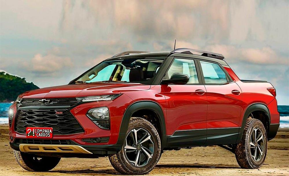 Chevrolet Montana 2023 em projeção artística livre feita por Jonhatan Machado, do Mentiras Automotivas